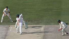 Pakistan's Hafeez hits ton as Australia toil on first day