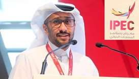 Hassan Abdulrahman al-Ibrahim making a special address at the International Products Exhibition and