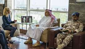 Defence minister meets Boeing Defence chief