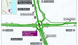 Tilted Intersection to be opened on October 4