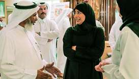 HE the Minister of Public Health Dr Hanan Mohamed al-Kuwari attending the HMC World Sight Day activi