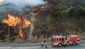 Firefighters make gains against Los Angeles wildfire, evacuation orders lifted