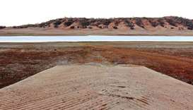 The drought-affected Split Rock Dam near Tamworth in Australia