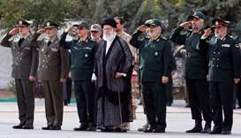 Iran's Supreme Leader Ayatollah Ali Khamenei attends a graduation ceremony for student officers and