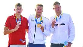 Italy's Guidi wins first gold of Beach Games