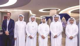 Kuwait Olympic Committee president Sheikh Fahad bin Nasser Sabah Ahmad al-Sabah with Aspire Zone Fou