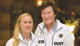 Uschi Schmitz (right) and Giannina Bonnemann
