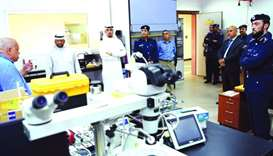 Arab delegations visit MoI forensic lab
