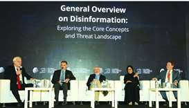 A panel discussion at the Global Security Forum 2019