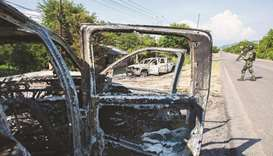 vehicles torched