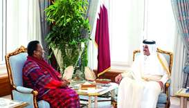 Amir meets South African minister