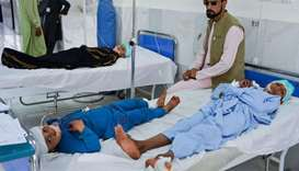 Three killed, dozens children wounded in Taliban truck blast