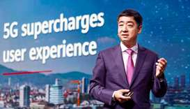 Huawei Deputy Chairman Ken Hu speaking at the Global Mobile Broad Band Forum in Zurich