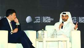 HE Hassan al-Thawadi interacting at the Global Security Forum.