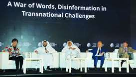 HE Sheikh Saif bin Ahmed al-Thani speaks at the workshop along with other participants