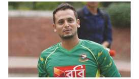 File photo of Bangladesh left-arm spinner Arafat Sunny.