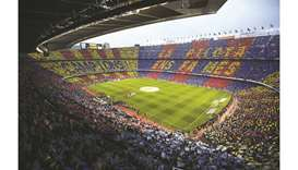 This May 6, 2018, picture shows a general view of the La Liga match between Barcelona and Real Madri