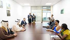 HE al-Mahmoud held meeting the Speaker of the Chamber of Deputies of the Republic of Rwanda Donatill