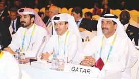 Qatar Olympic Committee Secretary General Jassim Rashid al-Buanain and Director of Sports Khalil al-