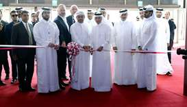 "HE the Minister of Commerce and Industry Ali bin Ahmed al- Kuwari opening the eighth edition of ""Cit"