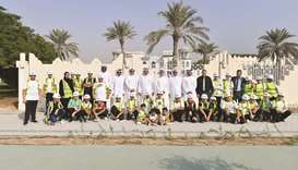 Students with Ashghal