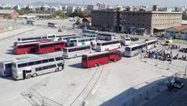 Greek villagers stone migrant buses
