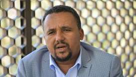 Ethiopian activist, Jawar Mohammed is photographed during an interview, in Addis Ababa