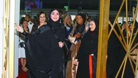 Ibtihaj al-Ahmadani officially opens the 16th edition of Heya Friday at DECC. She was joined by Hali