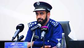 Brigadier Dr Mohamed Abdullah al-Muhanna al-Marri, director general of Police College addressing the