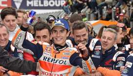 Marquez wins Australia MotoGP thriller as Vinales crashes
