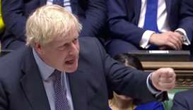 Britain's Prime Minister Boris Johnson speaks at the House of Commons