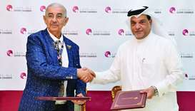 Qatar Chamber board member Mohamed bin Ahmed al-Obaidli and Asean Chamber of Commerce president Moha