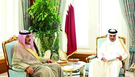 Amir receives message from Kuwaiti leader