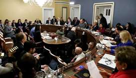 US House of Representatives Rules Committee holds markup of Trump impeachment inquiry resolution on