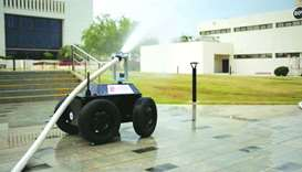 QU graduates create fire-fighting robot
