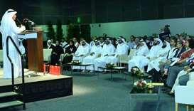 Participants in the Global Innovation Meeting which began at the Doha Exhibition and Convention Cent