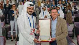 Amir receives IAAF Golden Order of Merit