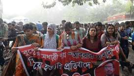 Bangladesh student killing sparks university protests