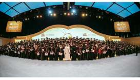 Sheikha Jawaher Honors Qatar University Female Graduates