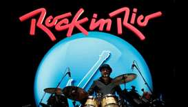 Jeremy Stacey of King Crimson performs at the Rock in Rio Music Festival in Rio de Janeiro, Brazil