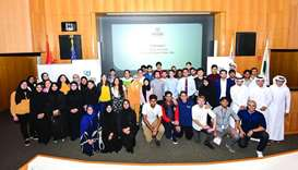 Participants in the 1st Qatar Universities Debate League (QUDL) in English for 2019-2020 season.
