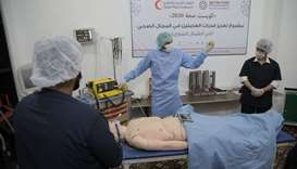 QRCS enhances capacity of health workers in Syria