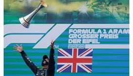 Hamilton matches Schumacher's record with 91st win