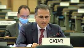 HE the State of Qatar's Permanent Representative to the UN Office in Geneva Ambassador Ali Khalfan a