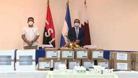 The aid was received by Assistant Health Minister of Nicaragua Dr Enrique Beteta, during a ceremony