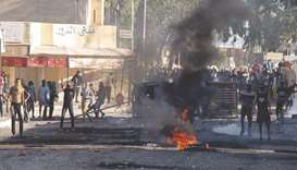 Tunisian protesters take to the streets of the impoverished town of Sbeitla, yesterday after a man d