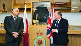 Qatar-UK joint squadron command office opened