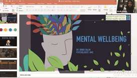 MES conducts webinar on mental wellbeing