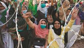 Supporters of the newly-formed Pakistan Democratic Movement (PDM), an opposition alliance of 11 part