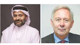 ousuf Mohamed al-Jaida, QFC Authority chief executive, right, and Arnaud de Bresson, chairman of WAI